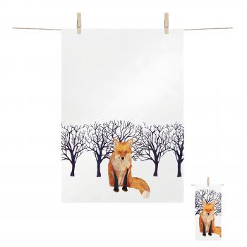 Kitchen Towel Winter Fox 68x48 cm