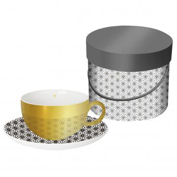Reflecting Cup Gift Box Ginza black gold