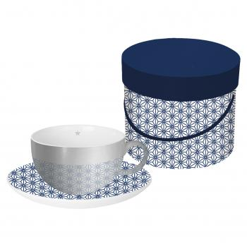 Reflecting Cup Gift Box Ginza blue real platinum