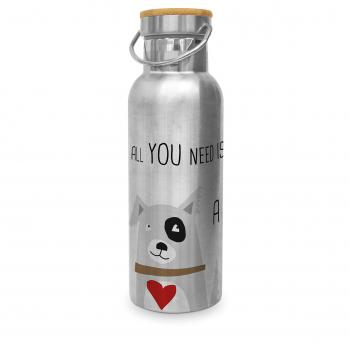 Love and Dog Steel Bottle 0,50